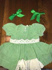 Doll Clothing Terri Lee Tagged 1950's Green Dress
