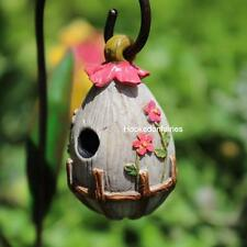 Miniature  Fairy Garden Flowering Birdhouse WS 1503 Gnome Hobbit