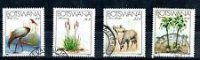1983 Botswana Endangered species animals & plants set of 4 used