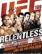 Mark Coleman & Chael Sonnen Frank Trigg Signed UFC 109 8x10 Photo Picture Auto'd