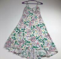 LC Lauren Conrad Women's Spaghetti Strap Dress 4 Multicolor Floral High Low Date