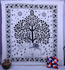 Indian Hippie Elephant Tree of life Tapestry Wall Hanging Queen Bedspread Throw