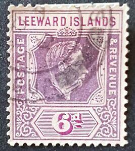 Leeward Islands - 1938 - Sc 110 - 6p Violet and Red Violet KGVI (Perf 14) VF ude