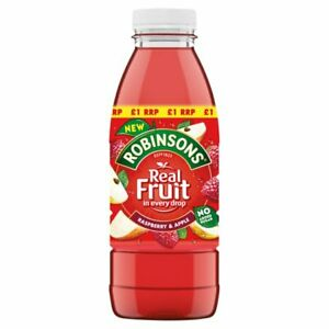 Robinsons Ready to Drink Raspberry & Apple Juice Drink 500ml Price Marked £1 x12