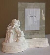 porcelain dog pet urn & frame