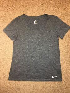 Nike Dri Fit Womens Crew Neck T Shirt Gray With Flecks Size Medium NWOT