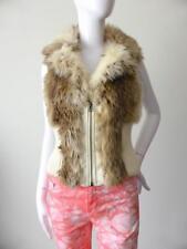 LUSHOUS Women's Jacket Vest Knitted Sleeveless Fur Size Small - Large