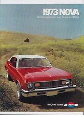 1973 Chevrolet Nova Brochure Nova Nova Custom SS