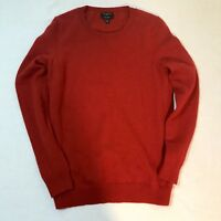 TALBOTS 100% CASHMERE SWEATER RED CREW NECK SP NWOT