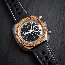 Longines Cal. 332 también conocido como Valjoux 726 3 Reg Cronógrafo Divers Watch Bisel De Baquelita
