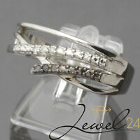 Private Diamonds Damen Cocktail Ring 925 Sterling Silber rhodiniert mit Diamant