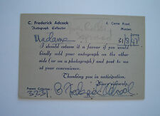 GWEN CATLEY ENGLISH SOPRANO OPERA SINGER AUTOGRAPH SIGNED SAC CARD 1947
