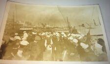 Rare Antique American Sailors Gambling! U.S.S. Concord Real Photo Postcard! RPPC