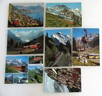 Schweiz Postkarten Lot 7x Bergbahn ua. Jungfrau-Bahn, Schynige, Vitznau, Suisse