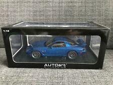 Autoart 75988 1:18 Mazda RX-7 FD3S Spirit R Type A in Innocent Blue Mica RARE