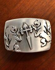 Celtic Crusader Irish Cross Roman Lion Tiger Metal Unisex Men's Belt Buckle