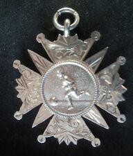 Début de grandes STERLING SILVER MEDAL/watch fob/Pendentif-Football 1909