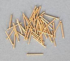 MINI BRASS NAILS/PINS/RIVETS/SPIKES - 50 pieces (10mm x 0,8mm)  #351008 AKKURA