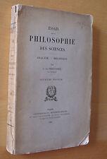 Freycinet Essais sur la philosophie des sciences ed Gauthier-Villars 1900