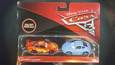 DISNEY PIXAR CARS 3 LIGHTNING MCQUEEN SALLY 2 PACK 2017 SAVE 5% WORLDWIDE FAST