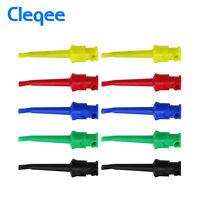 10PCS Multimeter Test Hook Clip Lead Wire Kit Mini Grabber Test Probe 5 Colors