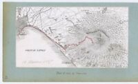 ITALY Plan of the Road up to Vesuvius Antique Map 1887