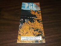 SUMMER/FALL 1965 PACIFIC GREAT EASTERN RAILWAY PUBLIC TIMETABLE