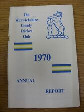 1970 Cricket: Warwickshire - Season Annual Report (worn at staple). Thanks for t