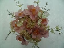 Mohnstrauß 14-fach 45 cm weiß Kunstblumen Mohn Dekoblumen Basteln