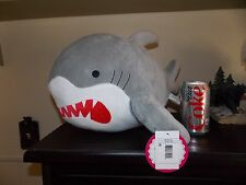 "NWT New Big Shark Plush Great White Shark Stuffed Animal Large 17"" Rare Bank"