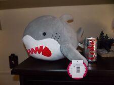 "NWT New Big Shark Plush Great White Shark Stuffed Animal Large 17"" Rare Bank"