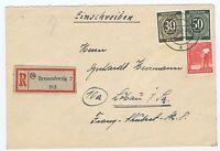 All.Bes./Gemeinsch.Ausg. Mi. 932, 928, 945, R-Brief Braunschweig, 10.12.47