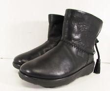 $150 FitFlop Womens Mukluk Shorty II Slip On Tassel Boot Shoes, Black, US 8