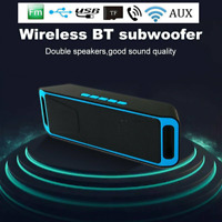 Bluetooth Stereo Bass Wireless Speaker Indoor/Outdoor USB/TF Radio FM Portable@