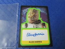Star Wars topps card signed Alan harris as bossk authentic autograph