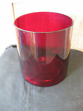"Ftd Ruby Red 5 1/2"" Glass Flower Vase Great Condition"