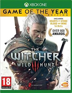The Witcher 3 III Wild Hunt Game of the Year Edition Xbox One XB1 Hunting - New!