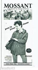 PUBLICITE ADVERTISING 056  1965  Mossant Nylfrance manteaux enfants blousons