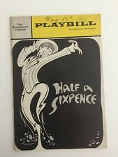 "Vintage 1965 Playbill ""Half a Sixpence"" with Tommy Steele"
