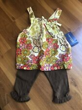 Genuine Baby Oshkosh Infant Girls 6 Month NWT 2 Piece Outfit Tank/legging Floral