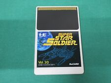 NEC PC Engine HuCARD -- SUPER STAR SOLDIER Card ONLY -- JAPAN. GAME. Work. 11152