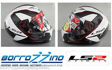 CASCO IN CARBONIO LS2 FF323 ARROW C FURY WHITE - SISTEMA E.R.S  + PINLOCK TG. XL