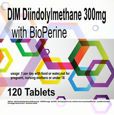 DIM Diindolylmethane 300mg 120 tablets with BioPerine