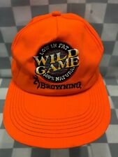 WILD GAME Low In Fat 100% Natural BROWNING Hunting Snapback Adult Cap Hat