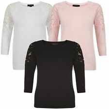 Cotton 3/4 Sleeve Thin Knit Jumpers & Cardigans for Women