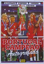 Portugal Champion Euro Cup 2016 magazine w/ players autograph o JOGO newspaper