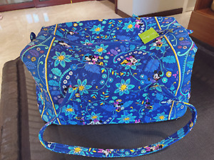 Vera Bradley Disney Parks Dreaming of Mickey Mouse large Duffel Blue travel Bag