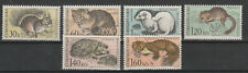 1967 Czeckoslovakia Fauna Set Mnh Rodent, cat, squirrel & Hedgehog