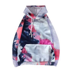 Women Hoodie Tie Dye Sweatshirt Oversized Loose Pullover Casual Hooded Jumper