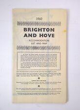 1960 BRIGHTON & HOVE ACCOMADATION LIST & MAP